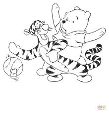 tigger hugging pooh coloring free printable coloring pages