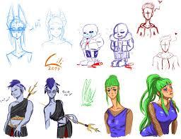 random sketches 1 by lili nyklova on deviantart
