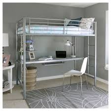 twin metal loft bed with desk and shelving kids workstation bunk bed twin metal saracina home target