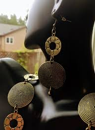 chunky jewelry necklace images Antique bronze circles chunky statement necklace oversized JPG