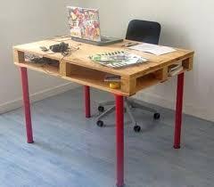palette bureau faire un bureau en bois de palette des modèles palettes