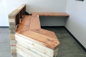 Diy Reclaimed Wood Desk Wooden Reception Desk Retail Diy Reclaimed Wood Reception Desk