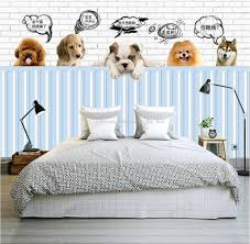 kids room wallpapers cute dog 3d wallpaper pet paradise photo wallpaper custom 3d wall