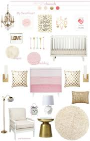 Pink Gold Bedroom by Pink Gold Nursery Gold Nursery And Gold