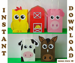 Barn Animal Party Supplies Barnyard Party Bags Barnyard Birthday Party Bags Farm