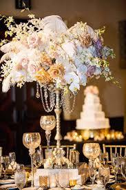great gatsby centerpieces glamorous gold and black san diego wedding modwedding