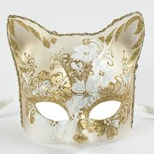 cat masquerade mask white gold venetian cat masquerade mask masquerade express