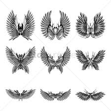 collection of wing designs vector image 1875077 stockunlimited
