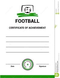 vector certificate template football stock vector image 58426811