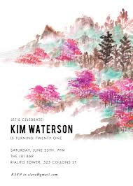 floral birthday invitations