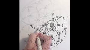 how to draw the flower of life youtube