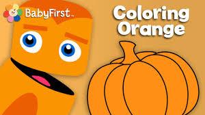 oranges pumpkins and carrots orange learn the colors color