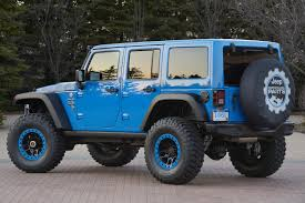 jeep blue interior check out the debut of the jeep wrangler maximum performance