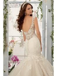 Ivory Wedding Dresses Mori Lee 5407 Mermaid Style Lace Wedding Dress Ivory
