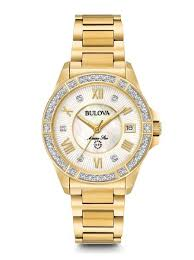 bulova ladies diamond bracelet watches images Women 39 s gold diamond water resistant marine star sport watch jpg
