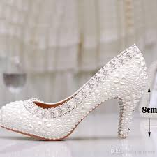 wedding shoes luxury luxury white pearl wedding shoes 3 inches comfortable
