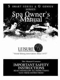 leisure bay spa manual