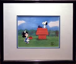 charlie brown thanksgiving show peanuts animation art at gremlin fine arts