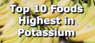 top 10 foods highest in potassium infographic