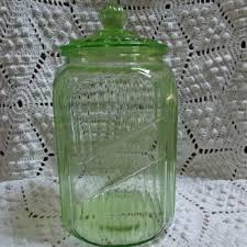 green canisters kitchen best vintage kitchen canisters glass products on wanelo