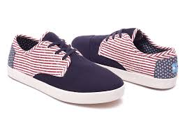 Flag Toms Americana Canvas Flag Men U0027s Paseo Sneakers Toms 000000000010008092