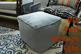 Unusual Ottomans by Diy Pouf Ottoman Cube