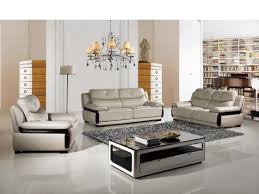 Modern Furniture Living Room Wood Contemporary Italian Furniture Designers Black Leather Tufted L