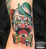 sad clown traditional done by mike attack instagram
