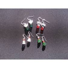 swarovski tree earrings bone greenstone pendants