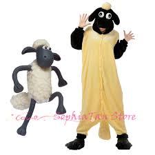 Mens Sheep Halloween Costume Aliexpress Buy Animals Shaun Sheep Onesie