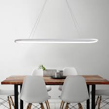 black white modern led chandelier for dining room bar kitchen room