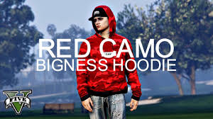 gta online red camo bigness hoodie what to wear today