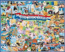 map usa jigsaw united states of america jigsaw puzzle puzzlewarehouse