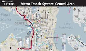 Seattle Map Downtown by Seattle Public Transportation Map Adriftskateshop