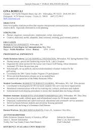 Sample Resume Public Relations by How To Write A Public Relations Resume Resumedoc