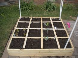 square foot garden plant markers and trellises never picture
