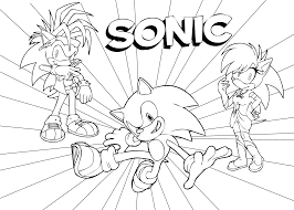 Sonic Coloring Pages For Kids Free Printable J Pinterest Free Sonic Coloring Pages