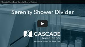 Home Decor Inc by Cascade Home Décor Serenity Shower Curtains Youtube