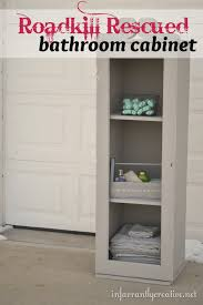 How To Make Bathroom Cabinets - how to make a bathroom cabinet roadkill rescue infarrantly