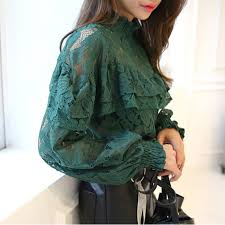long sleeve lace blouse picture more detailed picture about