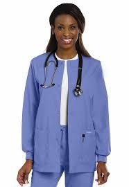 scrub jacket s crew neck landau 7525 central uniforms