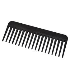 tooth comb 19 teeth wide tooth comb black abs plastic heat resistant large