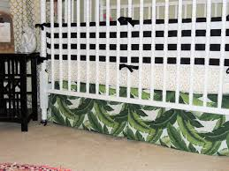 custom crib bedding in black white gold and green with