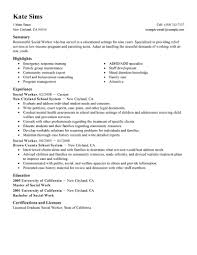 Resume Sample With Summary by Best Social Worker Resume Example Livecareer