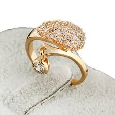 ladies finger rings images Buy aolvo gold plated rhinestone studded elegant ladies finger jpg
