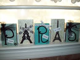 Paris Decor Teal And Black Paris Letter Blockseiffel Towerparis