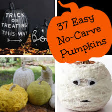 No Carve Pumpkin Decorating Ideas 37 Easy Diy No Carve Pumpkin Ideas What The Flicka