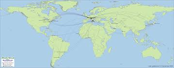 South African Airways Route Map by Alitalia Virtual Destinations