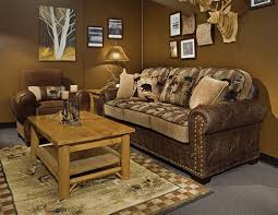 furniture nice brown leather sofa with pattern cushions by