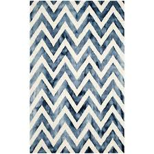 sophistikat cobalt blue white chevron rug
